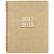 "2017-2018 AT-A-GLANCE® 8 3/8"" x 11"" Signature Collection™ Academic Monthly Planner, 13 Months July Start Tan/Red (YP107A-0718)"
