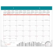 "2017-2018 AT-A-GLANCE® 22"" x 17"" Academic Monthly Desk Pad Calendar, July 2017 - June 2018 Paint the Town (D1017-704A-18)"
