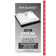 "2018 AT-A-GLANCE® Daily Desk Calendar Refill, 12 Months, January-December, 3 1/2""x6"" (E717-50-18)"