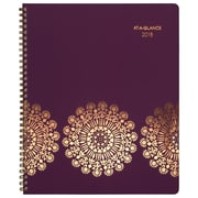 "2018 AT-A-GLANCE® 8 1/2"" x 11"" Sun Dance Weekly/Monthly Appointment Book/Planner, 13 Months January Start Purple (5051-905-18)"