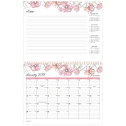 "2018 AT-A-GLANCE® 11"" x 8-1/2"" Monthly Wall Calendar, January 2018-December 2018  Wirebound Blush (1041-170-18)"