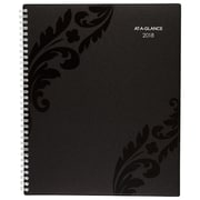 """2018 AT-A-GLANCE® Madrid Weekly/Monthly Appointment Book/Planner, 13 Months, 8 1/2""""x11"""", Black (793-905-18)"""