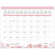 "2018 AT-A-GLANCE® 22"" x 17"" Monthly Desk Pad, January 2018-December 2018  Blush (D1041-704-18)"
