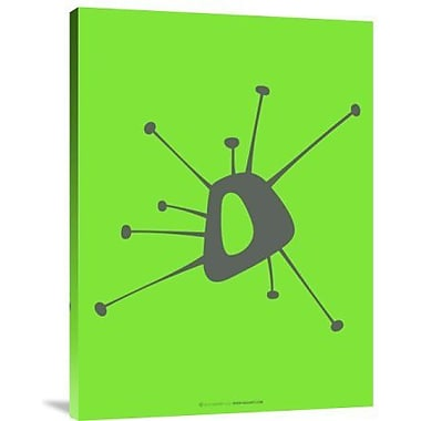Naxart 'Funny Shape Laps 1' Graphic Art Print on Canvas in Green; 16'' H x 12'' W x 1.5'' D