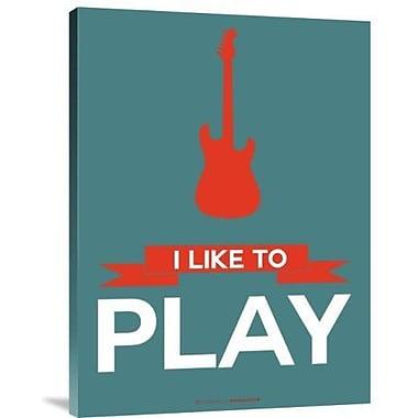 Naxart 'I Like to Play 7' Graphic Art Print on Canvas; 16'' H x 12'' W x 1.5'' D