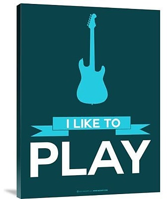 Naxart 'I Like to Play 8' Graphic Art Print on Canvas; 16'' H x 12'' W x 1.5'' D
