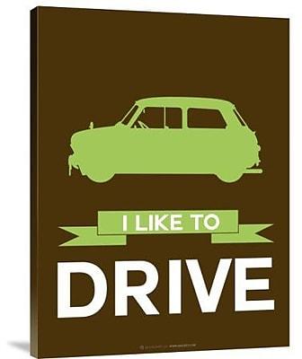 Naxart 'I Like to Drive Mini Cooper 2' Graphic Art Print on Canvas; 40'' H x 30'' W x 1.5'' D