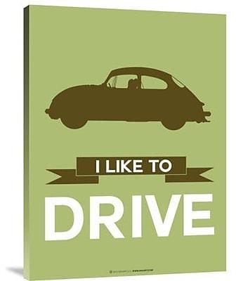 Naxart 'I Like to Drive Porsche 1' Graphic Art Print on Canvas; 32'' H x 24'' W x 1.5'' D