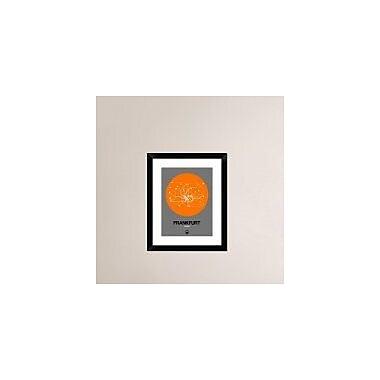 Naxart 'Frankfurt Orange Subway Map' Framed Graphic Art Print; 22'' H x 18'' W x 1.5'' D
