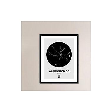 Naxart 'Washington D.C. Black Subway Map' Framed Graphic Art Print; 38'' H x 30'' W x 1.5'' D