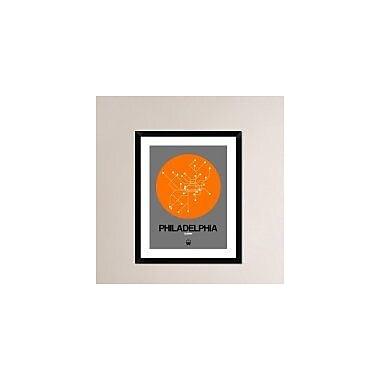 Naxart 'Philadelphia Orange Subway Map' Framed Graphic Art Print; 30'' H x 24'' W x 1.5'' D