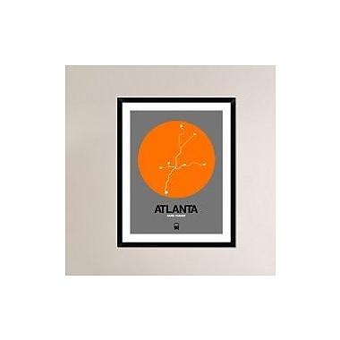 Naxart 'Atlanta Orange Subway Map' Framed Graphic Art Print; 38'' H x 30'' W x 1.5'' D