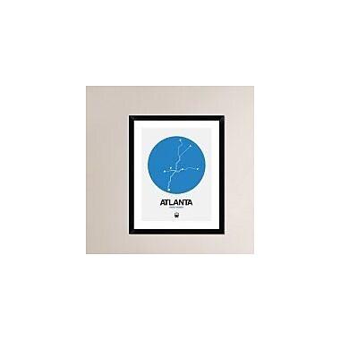Naxart 'Atlanta Blue Subway Map' Framed Graphic Art Print; 30'' H x 24'' W x 1.5'' D