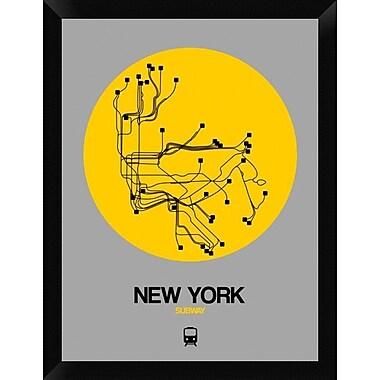 Naxart 'New York Yellow Subway Map' Framed Graphic Art Print on Canvas; 26'' H x 20'' W x 1.5'' D