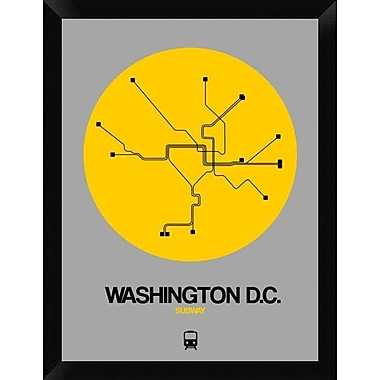 Naxart 'Washington D.C. Yellow Subway Map' Framed Graphic Art Print on Canvas