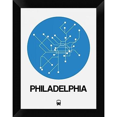 Naxart 'Philadelphia Blue Subway Map' Framed Graphic Art Print on Canvas; 18'' H x 14'' W x 1.5'' D