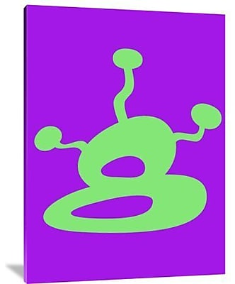 Naxart 'Funny Shape Brin 3' Graphic Art Print on Canvas; 32'' H x 24'' W x 1.5'' D