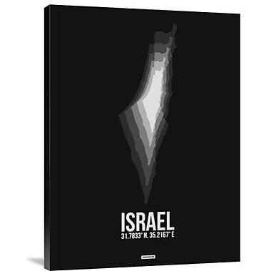 Naxart 'Israel Radiant Map 3' Graphic Art Print on Canvas; 16'' H x 12'' W x 1.5'' D