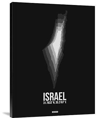 Naxart 'Israel Radiant Map 3' Graphic Art Print on Canvas; 40'' H x 30'' W x 1.5'' D