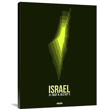 Naxart 'Israel Radiant Map 4' Graphic Art Print on Canvas; 16'' H x 12'' W x 1.5'' D