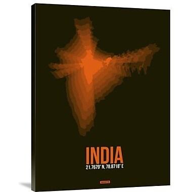 Naxart 'india Radiant Map 1' Graphic Art Print on Canvas; 40'' H x 30'' W x 1.5'' D