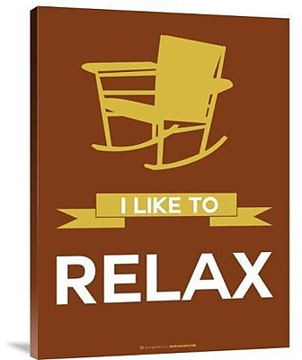 Naxart 'I Like to Relax 3' Graphic Art Print on Canvas; 32'' H x 24'' W x 1.5'' D