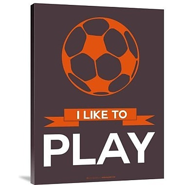 Naxart 'I Like to Play 2' Graphic Art Print on Canvas; 16'' H x 12'' W x 1.5'' D