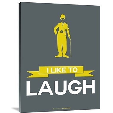 Naxart 'I Like to Laugh 1' Graphic Art Print on Canvas; 24'' H x 18'' W x 1.5'' D