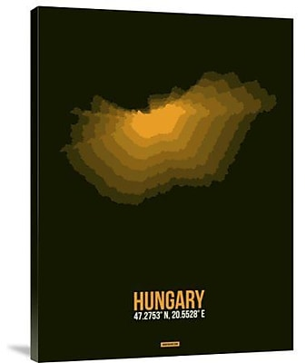 Naxart 'Hungary Radiant Map 3' Graphic Art Print on Canvas; 24'' H x 18'' W x 1.5'' D