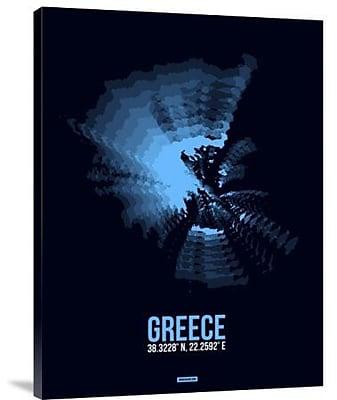 Naxart 'Greece Radiant Map 3' Graphic Art Print on Canvas; 24'' H x 18'' W x 1.5'' D