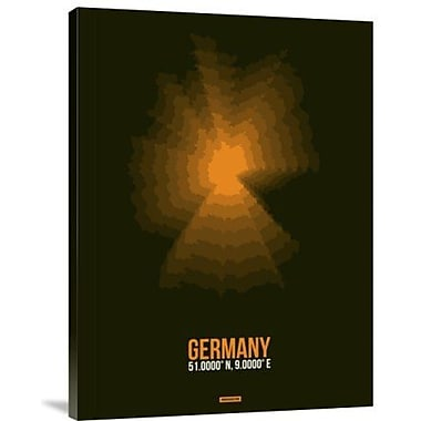 Naxart 'Germany Radiant Map 1' Framed Graphic Art Print on Canvas; 18'' H x 14'' W x 1.5'' D