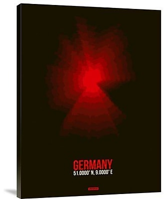 Naxart 'Germany Radiant Map 3' Graphic Art Print on Canvas; 40'' H x 30'' W x 1.5'' D