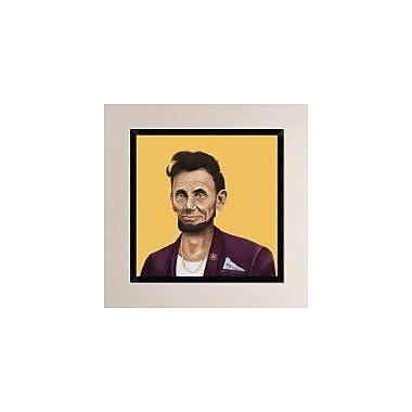 Naxart 'Abraham Lincoln' Framed Graphic Art Print on Canvas; 32'' H x 32'' W x 1.5'' D
