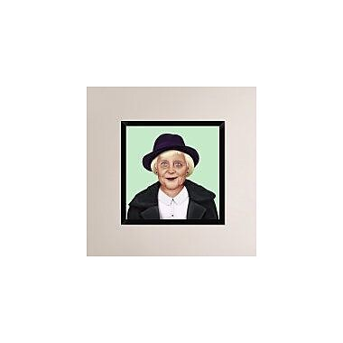 Naxart 'Angela Merkel' Framed Painting Print on Canvas; 26'' H x 26'' W x 1.5'' D