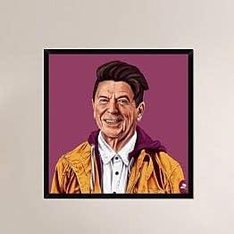 Naxart 'Regan' Framed Painting Print on Canvas; 38'' H x 38'' W x 1.5'' D