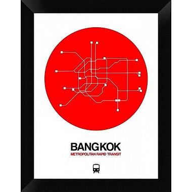 Naxart 'Bangkok Red Subway Map' Framed Graphic Art Print on Canvas; 18'' H x 14'' W x 1.5'' D