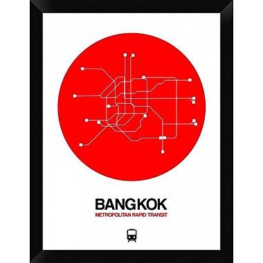 Naxart 'Bangkok Red Subway Map' Framed Graphic Art Print on Canvas; 26'' H x 20'' W x 1.5'' D