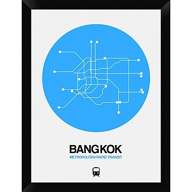 Naxart 'Bangkok Blue Subway Map' Framed Graphic Art Print on Canvas; 26'' H x 20'' W x 1.5'' D