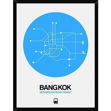 Naxart 'Bangkok Blue Subway Map' Framed Graphic Art Print on Canvas; 42'' H x 32'' W x 1.5'' D