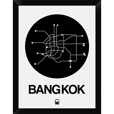 Naxart 'Bangkok Black Subway Map' Framed Graphic Art Print on Canvas; 26'' H x 20'' W x 1.5'' D