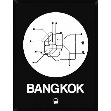 Naxart 'Bangkok White Subway Map' Framed Graphic Art Print on Canvas; 42'' H x 32'' W x 1.5'' D