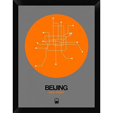 Naxart 'Beijing Orange Subway Map' Framed Graphic Art Print on Canvas; 26'' H x 20'' W x 1.5'' D