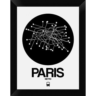 Naxart 'Paris Black Subway Map' Framed Graphic Art Print on Canvas; 18'' H x 14'' W x 1.5'' D