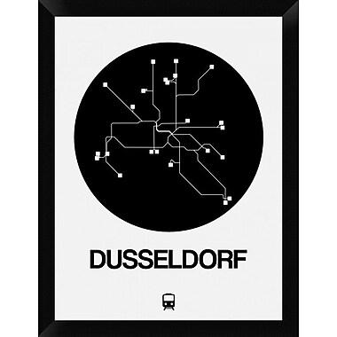 Naxart 'Dusseldorf Black Subway Map' Framed Graphic Art Print on Canvas; 26'' H x 20'' W x 1.5'' D