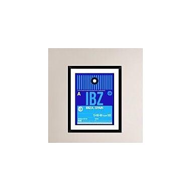 Naxart 'IBZ Ibiza Luggage Tag II' Framed Graphic Art Print; 30'' H x 24'' W x 1.5'' D