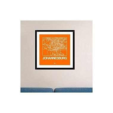 Naxart 'Orange Map of Johannesburg' Framed Graphic Art Print; 30'' H x 30'' W x 1.5'' D
