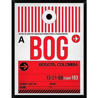 Naxart 'BOG Bogota Luggage Tag I' Framed Graphic Art Print on Canvas; 42'' H x 32'' W x 1.5'' D