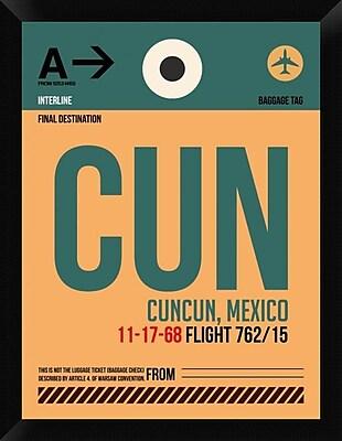 Naxart 'CUN Cuncun Luggage Tag I' Framed Graphic Art Print on Canvas; 26'' H x 20'' W x 1.5'' D
