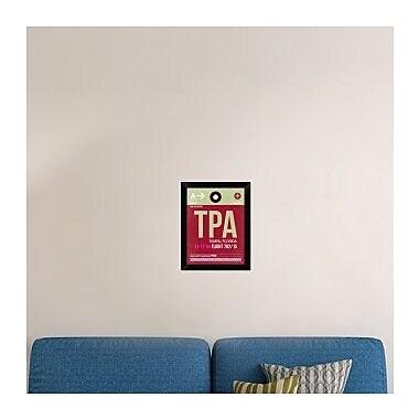 Naxart 'TPA Tampa Luggage Tag II' Framed Graphic Art Print on Canvas; 18'' H x 14'' W x 1.5'' D