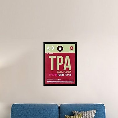 Naxart 'TPA Tampa Luggage Tag II' Framed Graphic Art Print on Canvas; 34'' H x 26'' W x 1.5'' D